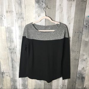Athleta shanti heathered colorblock top size small